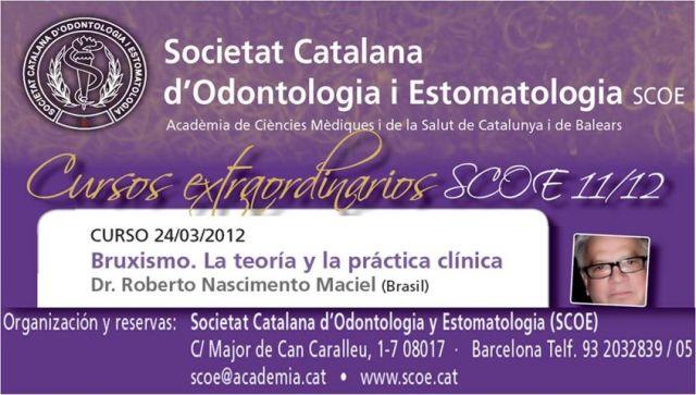 Curso Bruxismo Dr.Maciel.Barcelona 2012